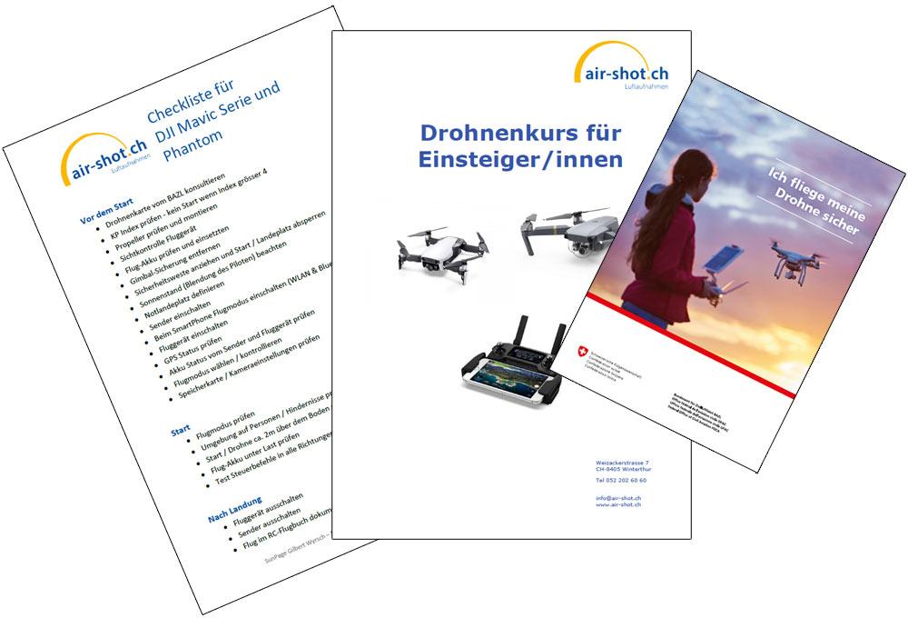 Kursunterlagen Drohnenkurs / Drohnenausbildung